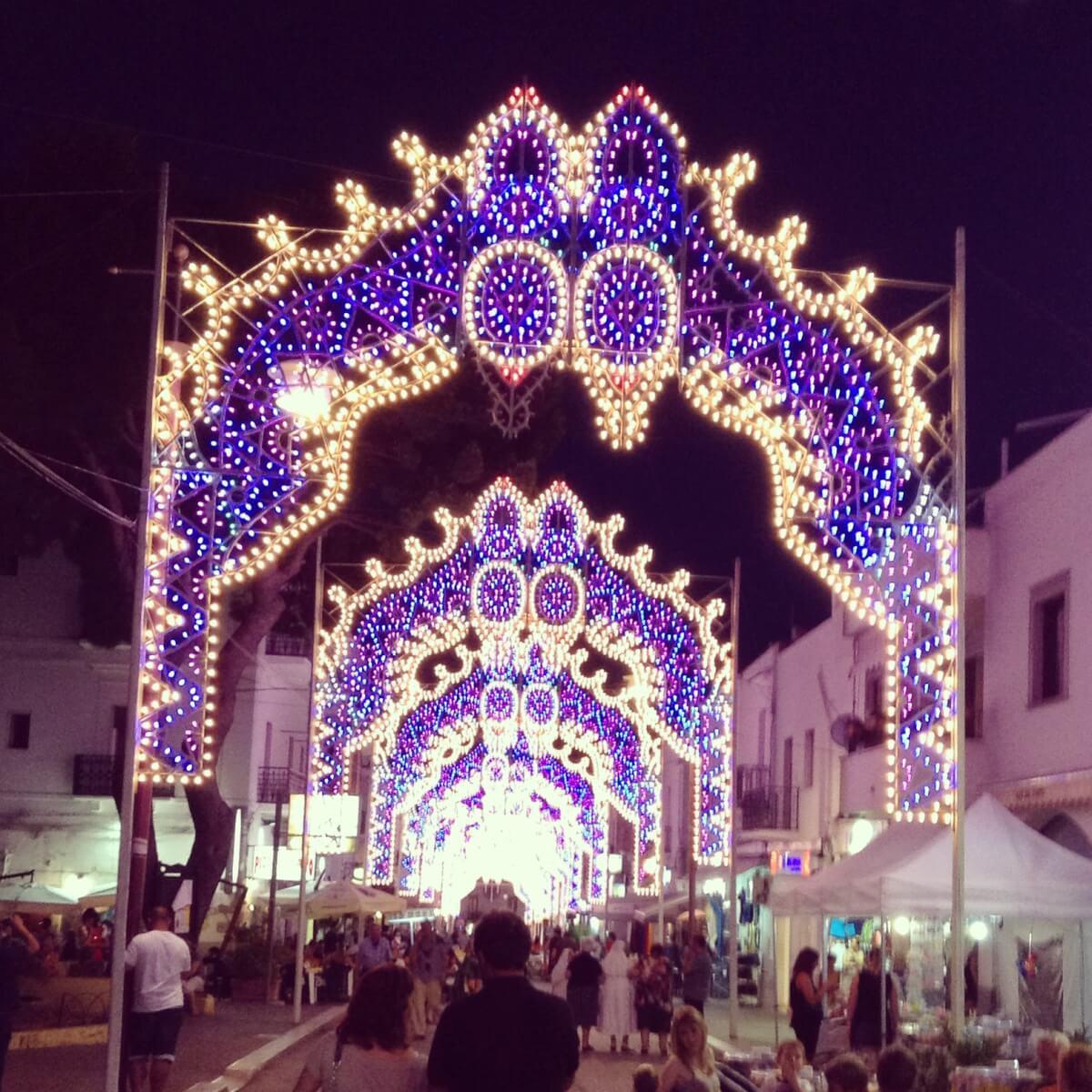 Luminarie per la festa patronale, Sant'Elia Profeta